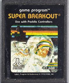 Story behind Atari 2600 8-bit Game Artwork - Super Breakout - I thought this game was super fun. LOL