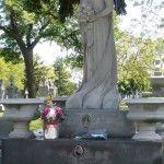 The Italian Bride haunts Mt. Carmel Cemetery in Hillside, Illinois.