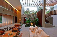 Construindo Minha Casa Clean: Jardim de Inverno / Área de Luz no Centro da Sala!