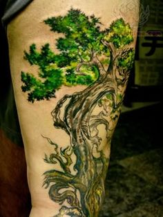 green tree tattoo - Google Search