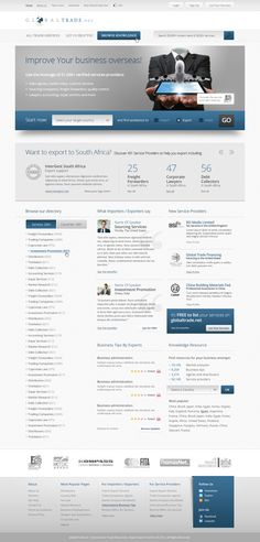 Globaltrade.net website design by ~fuxxo on deviantART