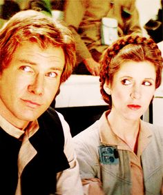 Han & Leia planning the attack on the New Death Star.  Star Wars: Episode VI - Return of the Jedi (1983).