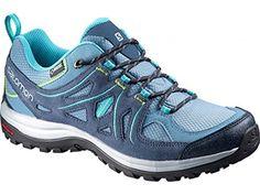 1e2fce725965 Salomon Womens Ellipse 2 GTX Hiking Shoes Rainy Blue Slate Blue Teal Blue F  9 and