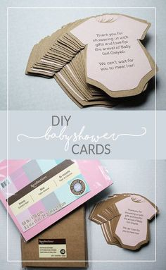 I have to make these!!! DIY Baby Shower Thank You Cards or Invites