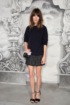 Everything You Need to Know About Today's Chanel Couture Show: Alexa Chung - If only I were taller.