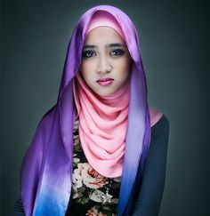 ombre hijab