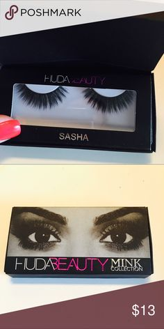 Huda beauty false lashes mink ✨NEW!!✨   ❤️Ask to bundle  ✔️Ships within 24 hours  ✨Smoke free home  ✖️Please address all questions and/or concerns prior to purchasing. I'm always happy to help.   ♥️Be sure to check my page for more Victoria Secret, PINK, and other name brand items in quality condition. Makeup False Eyelashes