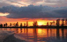 Вологодская область. Вытегорский район. Закат на Волго - Балте.