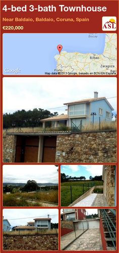 4-bed 3-bath Townhouse in Near Baldaio, Baldaio, Coruna, Spain ►€220,000 #PropertyForSaleInSpain