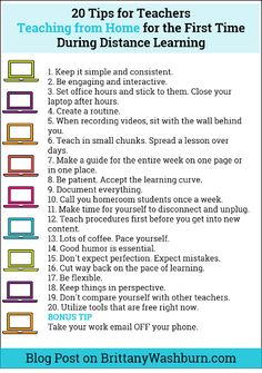Best 20 Tips from Teachers for Teaching from Home