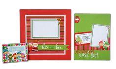 crafts direct scrapbook layouts | the Doodlebug Santa's Workshop line from @Crafts Direct. More layout ...