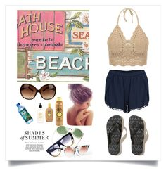 """""""Beach"""" by desyintanf ❤ liked on Polyvore"""