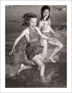 "https://flic.kr/p/niz858 | Fashion 0012-33 | Two young Aussie girls enjoy the summer beach in Melbourne, Australia, during the early 1960's.  This image is from a set called ""What's That You're Wearing"".  The photographs in this set were produced from negatives serendipitously discovered in my other collections.  The ordinary to exceptional choices of personal fashion through the eyes of the family camera.  Please go here to see more images from ""What's That You're Wearing&quo..."