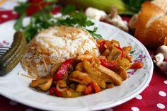 634. Соте пиле и гъби (турска кухня)