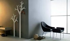 Swedese Tree Coat Rack, could be made easily out of mdf painted what ever colour you wanted and hung with spacers to keep of wall. Tree Coat Rack, Coat Racks, Hall Stand, Decor Market, Wall Mounted Coat Rack, Coat Stands, Tree Wall, Decoration, Furniture Design