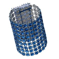 Rhinestone Velcro Sash Clip Napkin Ring - Royal Blue– CV Linens Royal Blue Tie, Blue Ties, Pew Decorations, Diamond Studs, Accent Pieces, Sash, Napkin Rings, Pure Products, Crystals
