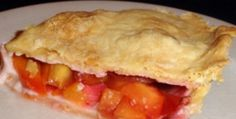 STRAWBERRY PEACH PIE RECIPE: Take a look at my recipe for making a delicious strawberry peach pie that is made from scratch. The pie is made with fresh strawberries, fresh sliced peaches in addition to white sugar, light brown sugar, flour, cinnamon, nutmeg and butter. The pie crust is light, flaky and buttery.