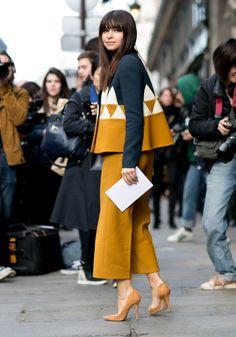 La jupe culotte jaune moutarde