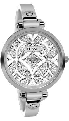 Fossil Women's 'Georgia' Goldtone Glitz Watch - Overstock™ Shopping - Big Discounts on Fossil Fossil Women's Watches Jewelry Box, Jewelry Watches, Jewelry Accessories, Fashion Accessories, Jewlery, The Bling Ring, Fossil Watches, Women's Watches, Luxury Watches