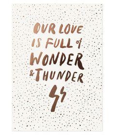 The Adventures Of... : Wonder + Thunder Print