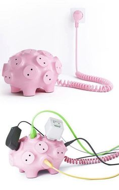 Funny pictures about Power strip pig. Oh, and cool pics about Power strip pig. Also, Power strip pig photos. Objet Wtf, Accessoires Iphone, Cool Inventions, Decoration Design, Gadgets And Gizmos, Cool Things To Buy, Stuff To Buy, Awesome Things, Creations