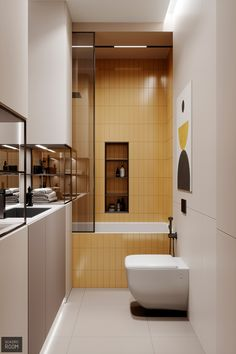 Family apartment interior with red & yellow home accents on a neutral decor base. Apartment Interior, Home Interior, Interior Decorating, Interior Plants, Bad Inspiration, Bathroom Inspiration, Bathroom Inspo, Bathroom Art, Washroom