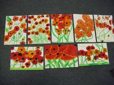 poppies Remembrance Day Activities, Remembrance Day Art, Elementary Art Rooms, Art Lessons Elementary, Flower Crafts, Flower Art, Poppy Craft, Art Classroom, Classroom Ideas