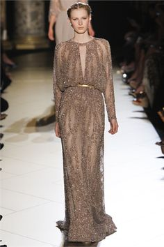 Julia Nobis at Elie Saab haute couture, fall 2012