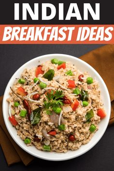These Indian breakfast ideas are perfect for vegan and vegetarian diets! From mild to spicy, these recipes make meatless mornings so much more interesting. Breakfast Options, Breakfast Recipes, Aloo Puri, Uttapam Recipe, Cracker Barrel Meatloaf, Vegetarian Diets, Quick Easy Dinner, Indian Breakfast, Morning Food