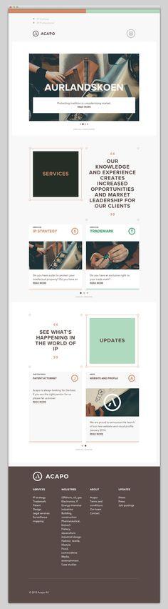 Creative Web, Design, Acapo, Website, and Layout image ideas & inspiration on Designspiration Website Layout, Web Layout, Layout Design, Ux Design, Email Design, Clean Design, Creative Design, Interface Web, Interface Design