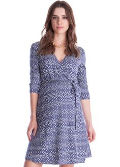 85f6fd5661f8f Queen Bee Milana Maternity Wrap Dress in Purple Print by Seraphine Pregnancy  Style, Maternity Style