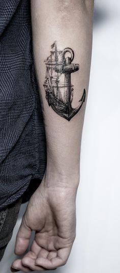 My Ships Anchor – by Emma Bundonis (Through My Third Eye, London) Mein Schiffsanker – von Emma Bundonis (Through My Third Eye, London) Tattoos Arm Mann, Wolf Tattoos, Arm Tattoos For Guys, Forearm Tattoos, Future Tattoos, Body Art Tattoos, Sleeve Tattoos, Tatoos, Sailing Tattoo