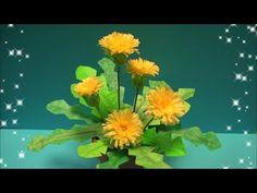 (ペーパーフラワー)タンポポの花の作り方 【DIY】(Paper Flower)Dandelion - YouTube