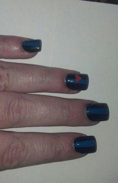 Thin blue line nails. I love my LEO!