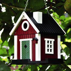 Scandinavian cottage Bird house