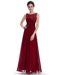 8c691df3f92 ... pretty evening dresses Suppliers   Clearance Sale  Ever Pretty Evening  Dresses Elegant Beautiful Burgundy Red O-Neck Long Floor Length Party  Dresses