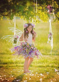 Fairy skirt only flower fairy skirt fairy by enchantedfairyco Fairy Photography, Children Photography, Fairy Photoshoot, Foto Fantasy, Fairies Photos, Pinterest Photography, Girls Dresses, Flower Girl Dresses, Foto Baby