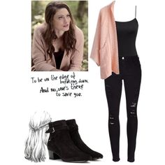 Hayley Marshall 1x07 - the originals by shadyannon on Polyvore featuring moda, Chicwish, H&M, Frame and Yves Saint Laurent