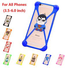 Universal 3.5-6.0 inch Screen Soft Silicone Covers Cases Coque Fundas For Irulu Smartphone U2 Mobile Phone Anti-knock Cover Case