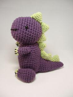 Crocheted Dinosaur Stuffed Animal Toy on Etsy, $27.00