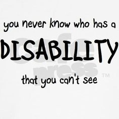 96% of people with illness do not have any visible signs or use an assitive device (#invisible illness week)