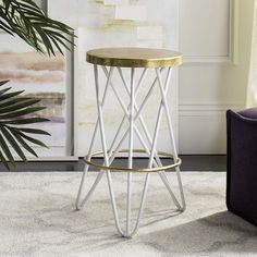 Inspired by the allure of Barcelona's charming culinary destinations, the Safavieh Lorna Stool gives any bar or dining setting dramatic appeal. Made of durable iron, timeless design features a gold leaf finish and sleek hairpin legs. Bar Furniture, Furniture Deals, Furniture Outlet, Online Furniture, Contemporary Bar Stools, Chic Desk, Counter Height Table, Counter Bar Stools, Dining Room Bar