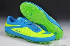 2014 Nike Hypervenom Phelon AG Jnr Boots Fluorescent Green Blue 2013 Soccer Cleats