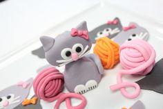 Fondant edible 1 qty Cat Kitty Cake Topper by SugarAndStripesCo