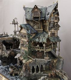 The Ultimate Guide in Toy Train Collections Medieval Houses, Medieval Town, Medieval Fantasy, Hirst Arts, Wargaming Terrain, Halloween Village, Fantasy House, Free To Use Images, Fantasy Miniatures