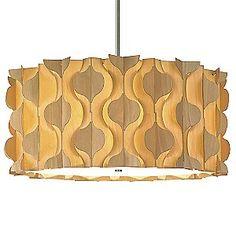 wood veneer lamp shade - Spade Drum Pendant by Dform