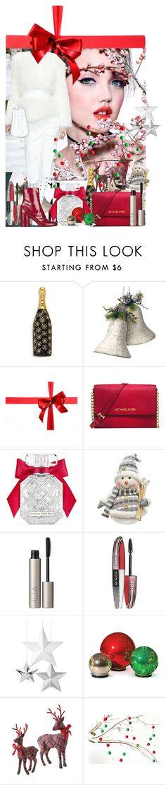 """""""Untitled 1554"""" by ceca-66 ❤ liked on Polyvore featuring Marc Jacobs, National Tree Company, Michael Kors, Victoria's Secret, Alpine, Ilia, L'Oréal Paris, Improvements and Home Decorators Collection"""