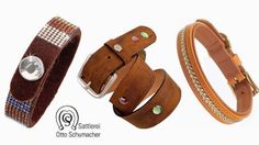 Exklusiv und in traditioneller Handwerkskunst gefertigt. Lederhalsbänder, Ledergürtel und Lederarmbänder aus der Sattlerei.
