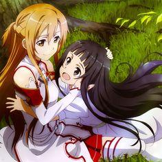 Sword Art Online, Asuna & Yui, official art
