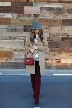 Over the knee boots will look fantastic with a classic camel coat. Merrick demos…